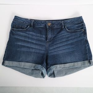 Lauren Conrad denim jean shorts size 12